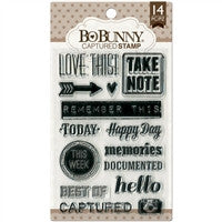 BoBunny Cling Stamps 4 x 6 Captured