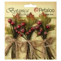 Petaloo Botanica Sugared Berry Clusters Red