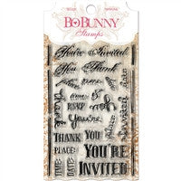 BoBunny Clear Stamp You're Invited