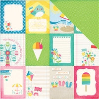 Echo Park I Love Sunshine 3 x 4 Journaling Cards 12 x 12 Stock