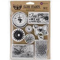 Prima Marketing Finnabair Cling Stamp Rust & Dust