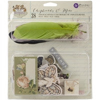 Prima Marketing Butterfly Collection Chipboard, Stickers and More