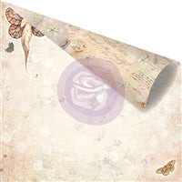 Prima Marketing Butterfly Double-Sided Cardstock 12 x 12 Princess Papillon