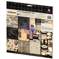 "Prima Marketing Collection Kit 12""X12"" 20/Pkg Cartographer"