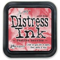 Tim Holtz Distress Ink Pad Festive Berries