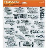 Fiskars Make a Wish Quotes Clear Stamp