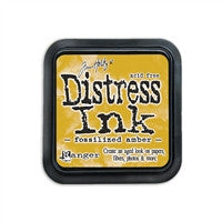 Tim Holtz Distress Ink Pad April Fossilized Amber