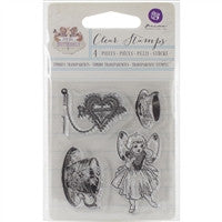 Prima Marketing Butterfly Collection Butterfly Clear Stamp Tea Cups