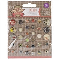 Prima Marketing Allstar Decorative Metal Brads 32/Pkg