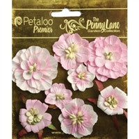 "Petaloo Penny Lane Mixed Blossoms 1"" To 1.75"" 8/Pkg Soft Pink"