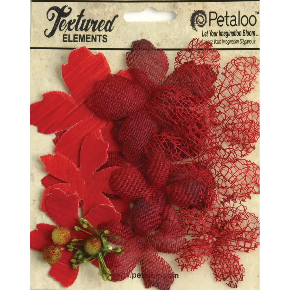 Petaloo Textured Elements Layers Red