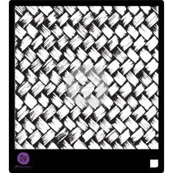 Prima Marketing Basket Weave Designer Stencil 6 x 6