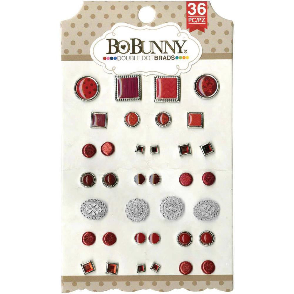 BoBunny Double Dot Brads Ruby Red