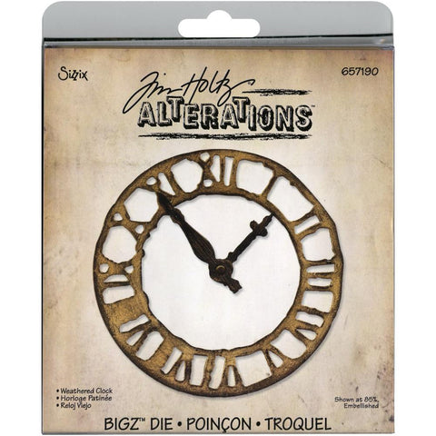 Sizzix Bigz Die By Tim Holtz Weathered Clock