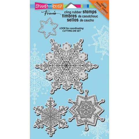"Stampendous LeavesDelicate Snow Cling Stamps 5""X7"" Set"