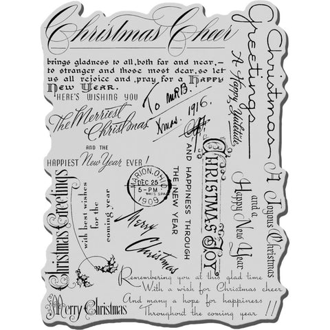 "Stampendous Cling Stamp Christmas Background  4""X6"""