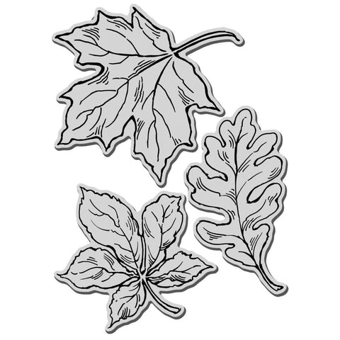 "Stampendous Leaves Cling Stamps 5""X7"" Set"