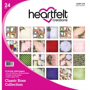 Heartfelt Creations Classic Rose 12x12 Paper Collection