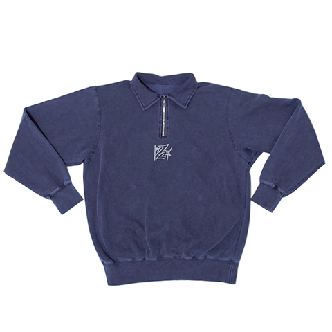 BZLY PLAYERS BLUE HALF-ZIP