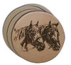 Leather Coaster Set - 4 piece (Multiple Design Options)