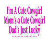 Dads Lucky Cowgirl - Toddler / Kids
