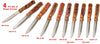 Steak House-Style Knives Set 4 Piece (Multiple Engraving Options)