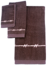 Bath Towel Set, Dark Brown - 2 Design Options