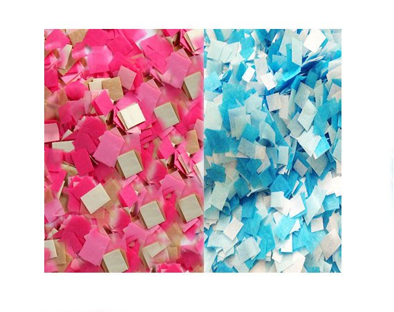Pink and Blue Confetti for Gender Reveal or Baby Shower Decorations