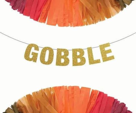 Gobble Thanksgiving Banner