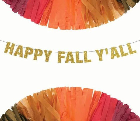 Happy Fall Y'all Thanksgiving Banner
