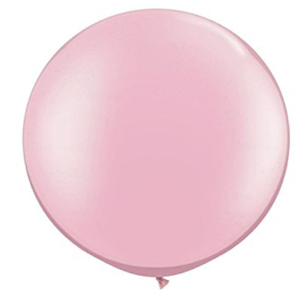 "Pastel Light Pink Balloons - Qualatex Big Round 36""  Helium Grade Balloons"