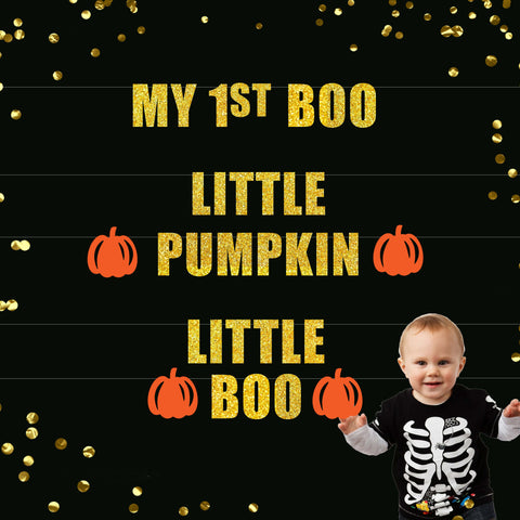 My 1st Boo, Little Pumpkin and Little Boo Banners