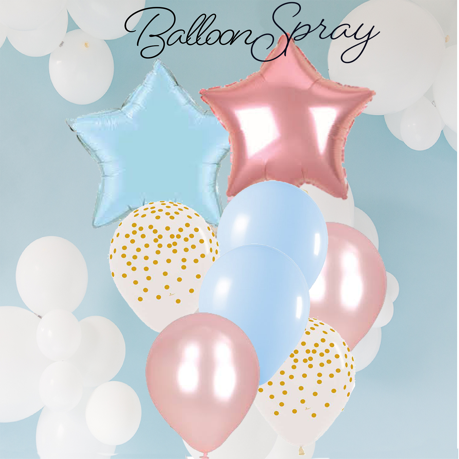 Twinkle Twinkle Little Star Balloon Spray for a Birthday or Reveal Party