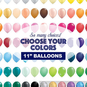 "Balloons 11"" Latex,  Pick A Color for Birthdays, Showers, Weddings, and Celebrations"