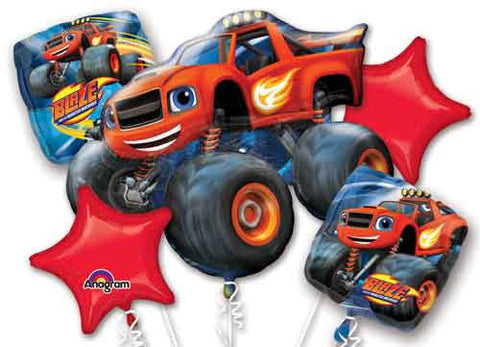 Monster Truck Birthday Balloon Bouquet, Truck Birthday Ideas, Blaze Balloons, 32395-01 Blaze Birthday Party, Boys Birthday Party Ideas