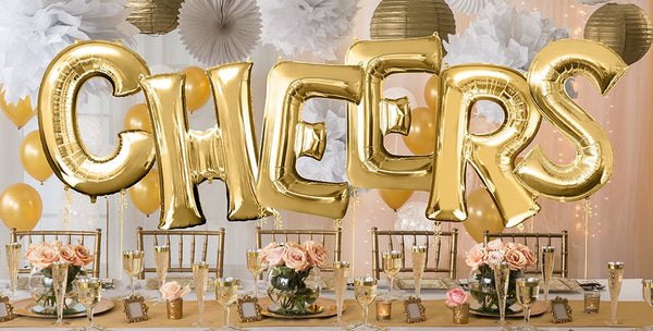 "SALE Cheers Balloons, Wedding Birthday Anniversary 2019 balloons,  40"" Choose your saying, 2019 Balloons, Grad Balloons, Cheers Banner"