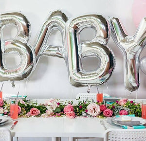SALE BABY balloon Silver, Gold, Rose Gold, Baby Shower Letter Balloons, Decor, Gender Reveal Ideas, Baby Sign, Chose Jumbo, Huge, Giant