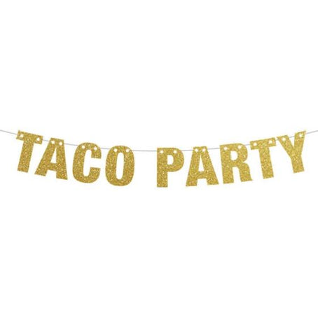 Taco Party Banner, Taco Tuesdays Theme Party, Tacos and Tequila Party, Sign Decor, Cinco De Mayo, Pink Taco banner