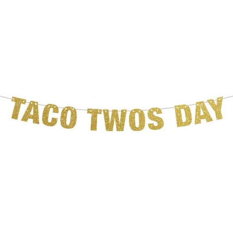 Taco Twos Day Banner, Taco Birthday Banner, Second Birthday Banner, Taco Party, Second Birthday Decor