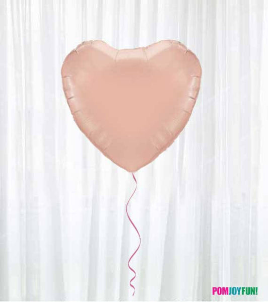 "Rose Gold Balloon, HEART shaped Rose Gold Balloon 17"" or 36"" Heart Balloon, Rose Gold Wedding, Baby Shower, Shower, Birthday, Valentines"