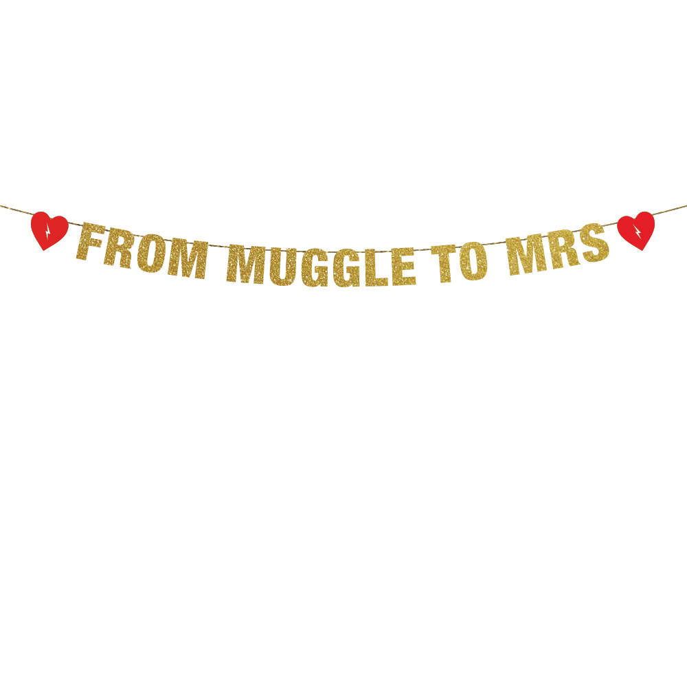 From Muggle to Mrs Banner A Bachelorette Wedding Banner