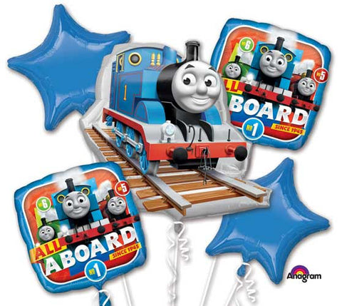 Thomas & Friends Balloon Bouquet, 5 Piece Balloon Bouquet, Thomas the Train Balloons, Foil Balloon Bouquet, Birthday Party