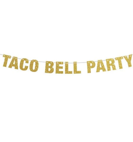 Taco Bell Party Banner, Taco Banner, Taco Party, Taco Tuesdays Tacos and Tequila Party Banner, Fiesta Decorations, Taco Bout A Party