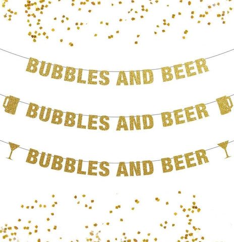 Bubbles and Beer Banner - a champagne and beer lovers decoration!