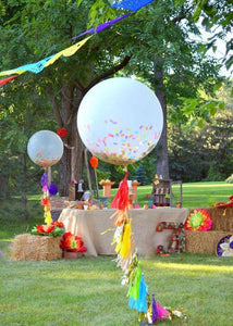 "Large Balloons with Tassels Big Balloons With Tassels, 36 inch balloon, Confetti balloon, Big Balloon Tassel, 36"" balloon"