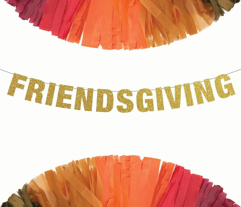 FRIENDSGIVING Banner Perfect Party Banner for Thanksgiving