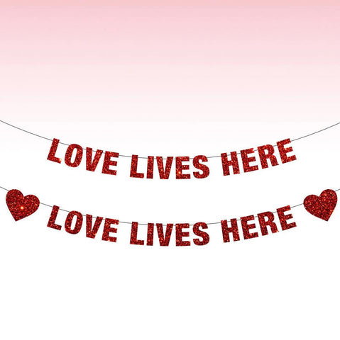 Love Lives Here Banner, Love Lives Here Sign, Love Banner, Valentines Day Decor, Valentine's Day, Love is Love, Be My Valentine