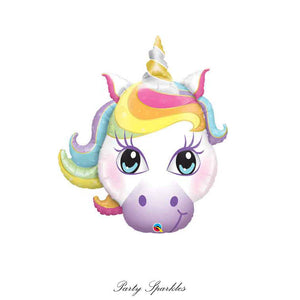 Unicorn Balloon Head, Giant Unicorn Head Balloon, Unicorn Party, Unicorn Party Decorations, Unicorn Party Decor,  Birthday Decorations