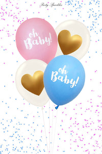 Oh Baby Balloons, Pink Blue Oh Baby Balloons, Gender Reveal Balloon, Gender Reveal Party, Baby Showers Balloons, Gender Reveal Ideas
