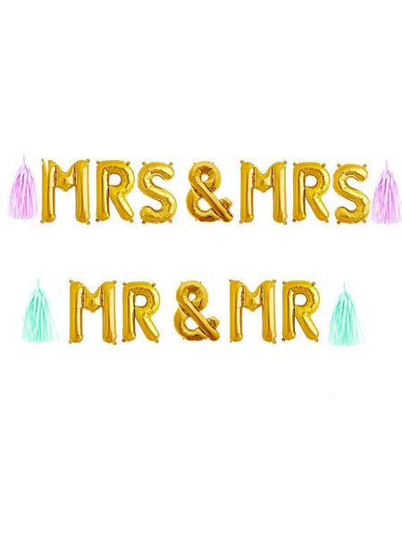 Mr & Mrs Balloons, Mr and Mrs Sign, Wedding Balloons, Engagement Ring Balloon, Decorations Decor for Party